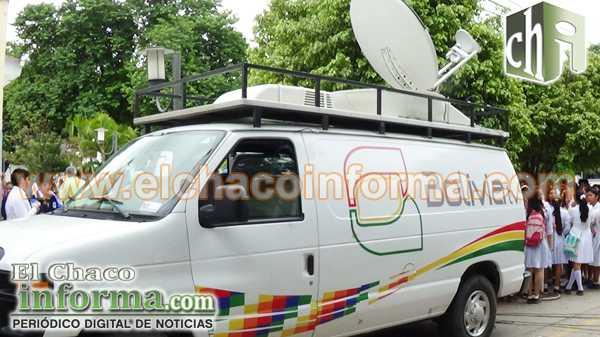 Televisión Boliviana realizó la transmisión en directo del evento.