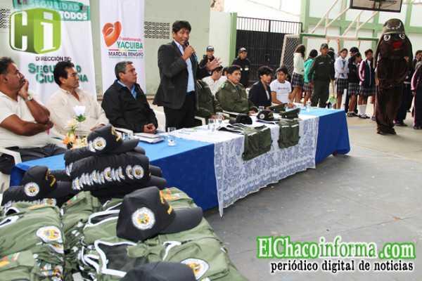 Inicio de las brigadas escolares en Yacuiba.