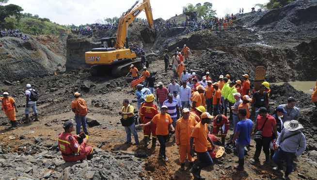 Derrumbe de mina en Colombia (FOTO: INTERNET)