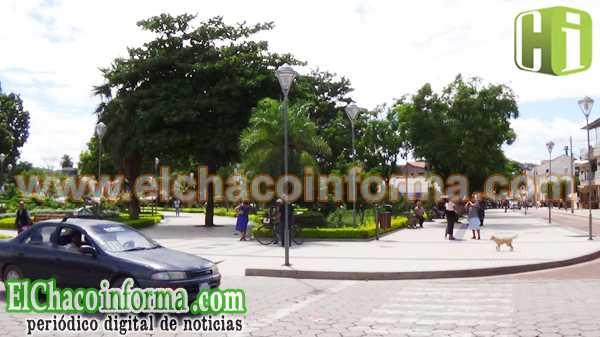 Plaza 12 de Agosto de la ciudad de Yacuiba.