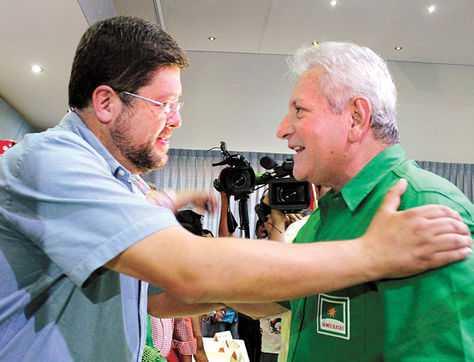Alianza. Los líderes de UN, Doria Medina, y de Demócratas, Costas. Unidad Nacional. (FOTO: LA RAZÓN)