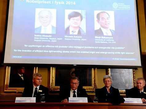 La Asamblea Nobel, en el Instituto Karolinska de Suecia, da a conocer los tres ganadores del premio Nobel de Física. (FOTO: INTERNET)
