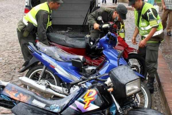 La policía logró recuperar 8 motocicletas a través de diferentes operativos. (FOTO: EL PAÍS EN)