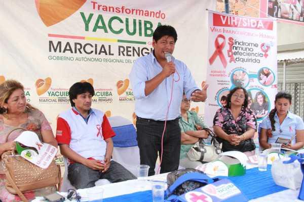 Feria de saludo organizada por la Sub gobernación de Yacuiba.