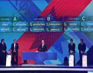 Grupos para la copa América Chile 2015.