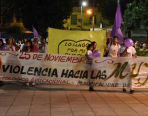 Marcha contra la violencia de género.