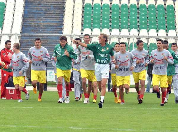 La selección de Bolivia realizó su primer entrenamiento de cara al encuentro amistoso contra Venezuela.