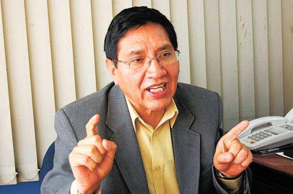 René Barrientos, director de Epidemiología del Servicio Departamental de Salud (Sedes) La Paz. (Foto: La Razón)