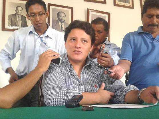 Waldemar Peralta, presidente del comité cívico de Tarija.