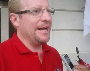 Adrián Oliva, candidato a Gobernador de Tarija por la agrupación UD-A. (Foto: Andrés Aguirre)