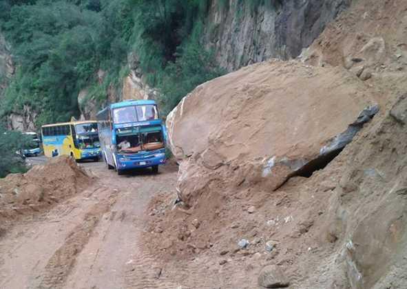 """La carretera al chaco y sus """"eternos"""" problemas. (Foto: El Periódico Digital)"""