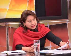 Dina Chuquimia, vocal del Tribunal Supremo Electoral.