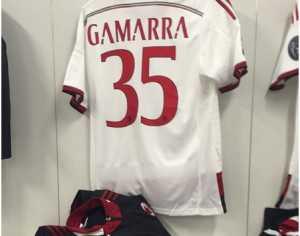La camiseta con la que Sebastián Gamarra debutó en la primera del Milan. (Foto: Instagram)
