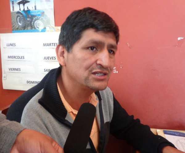 Juan Mamani, secretario general de la central de campesinos Caraparí. (Foto: El Chaqueño)
