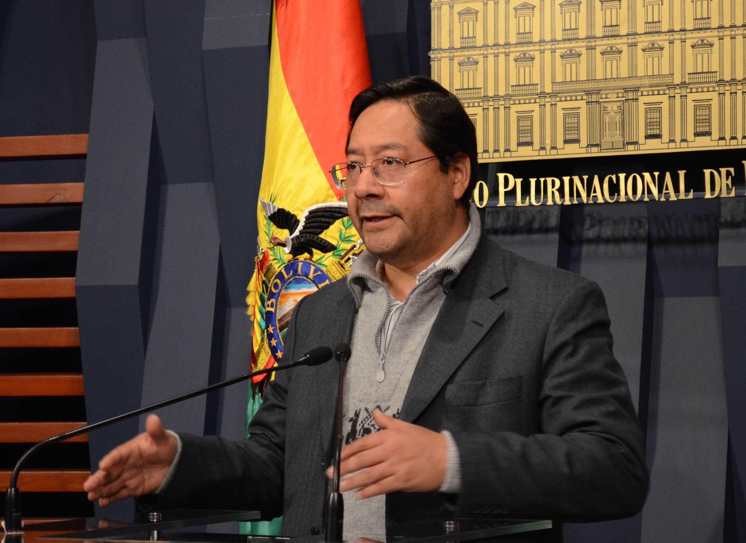Luis Arce, ministro de Economía y Finanzas Públicas. (Foto: ABI)