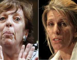 """Golpe a golpe. La ex esposa de Nisman dijo """"no hay que mentirle a la gente"""". Y la fiscal que investiga la muerte retrucó: """"Ella pidió confidencialidad"""". (Foto: El Clarín)"""