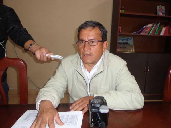 Rolando Jaramillo, director distrital de educación de Yacuiba. (Foto: El chaqueño)