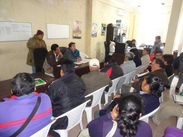 Reunión de dirigentes de OTB con Asambleistas Regionales. (Foto: El Chaqueño)