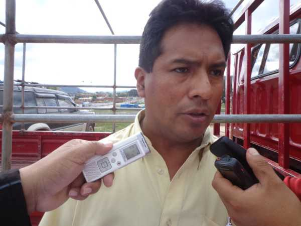 Antonio Dominguez Pdte. Comité Cívico Caraparí. (Foto: El Chaqueño)