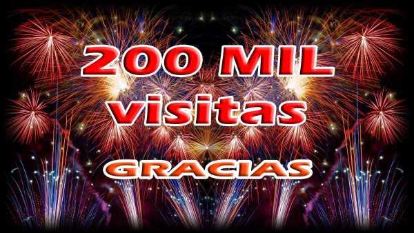 200 mil visitas
