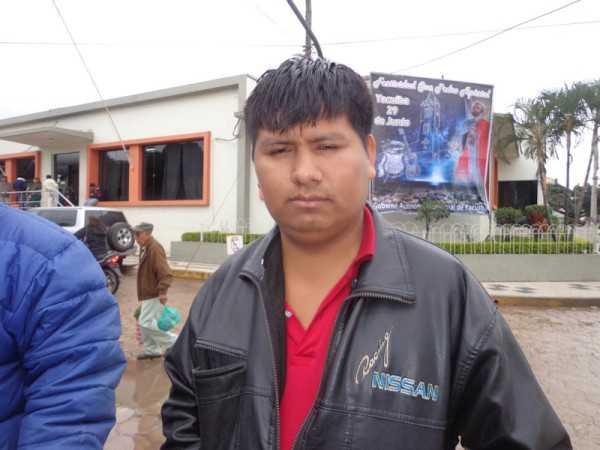 Germán Vega, vicepresidente de la comunidad El Barrial. (Foto: El Chaqueño)