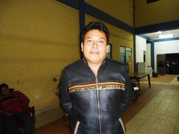 David Quiroz, Presidente de la Junta Distrital de Padres de Familia. (Foto: El Chaqueño)