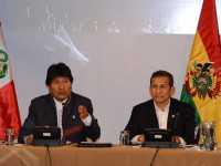 Los mandatarios de Bolivia y Perú. (Foto: ABI)