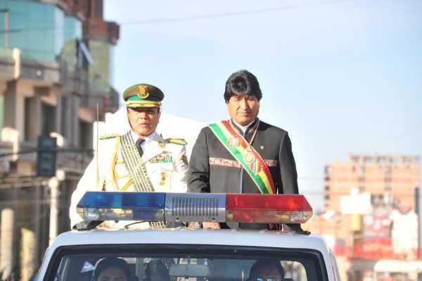 El comandante general de la Policía Boliviana, Edgar Téllez habló del proceso de reforma de la institución. (Foto: ABI)