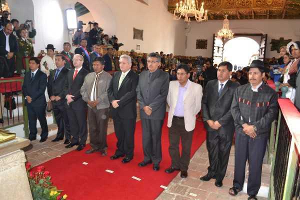 Acto de Posesión Gobernadores en la capital del País. (Foto: ABI)