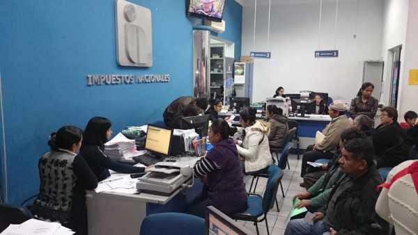 Oficina de Impuestos Nacionales en Yacuiba. (Foto: El Chaqueño)