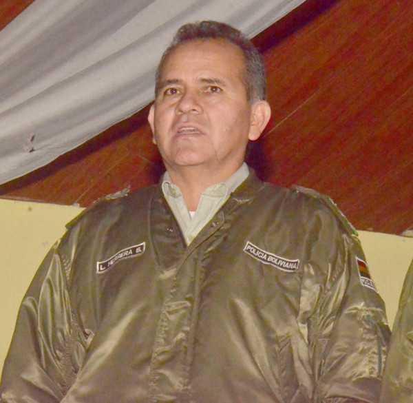 Cnel. Leopoldo Herrera, Comandante de Frontera Policial de Villa Montes. (Foto: El Chaqueño)