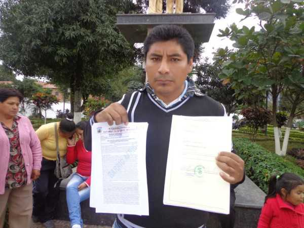 David Mercado, presidente de OTB, del barrio África. (Foto: El Chaqueño)