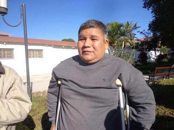 Victor Lopez, herido de TRANSREDES. (Foto: El Chaqueño)