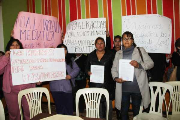 Dirigentes de organizaciones de mujeres de Yacuiba. (Foto: El Chaqueño)