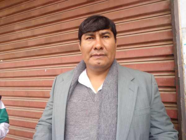 Miguel Salazar, presidente de OTB del barrio Obrero. (Foto: El Chaqueño)