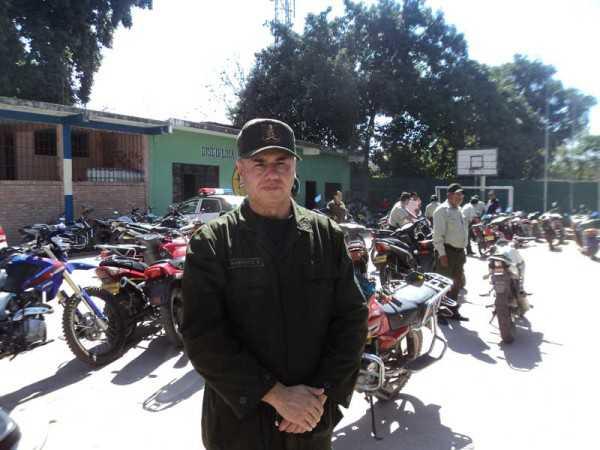 Cnel. Yesse Bismarck Barbeito, Comandante de Frontera Policial. (Foto: El Chaqueño)