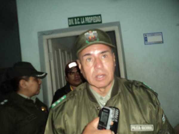 Comandante de Frontera Policial de Yacuiba. (Foto: El Chaqueño)