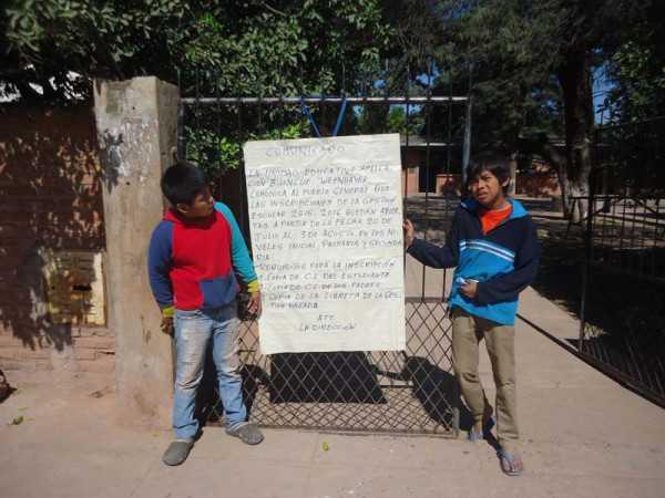 Alumnos weenhayeks se encuentran expectantes del inicio de clases. (Foto: El Chaqueño)