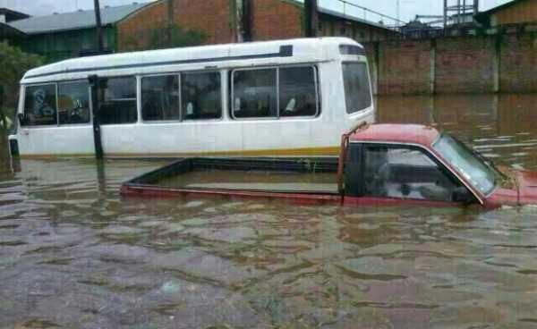 Las intensas lluvias en Santa Cruz porvocan inundaciones. (Foto: Erbol)