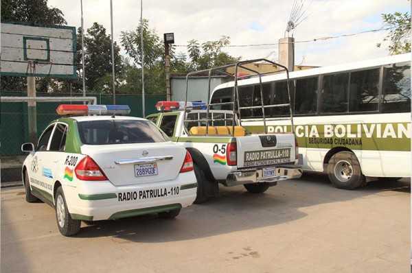 Movilidades del Comando de Frontera Policial. (Foto: El Chaqueño)