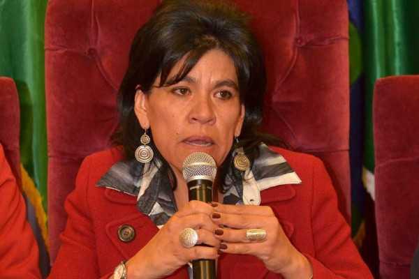 katia Uriona, presidenta del Tribunal Supremo Electoral. (Foto: Correo del sur)