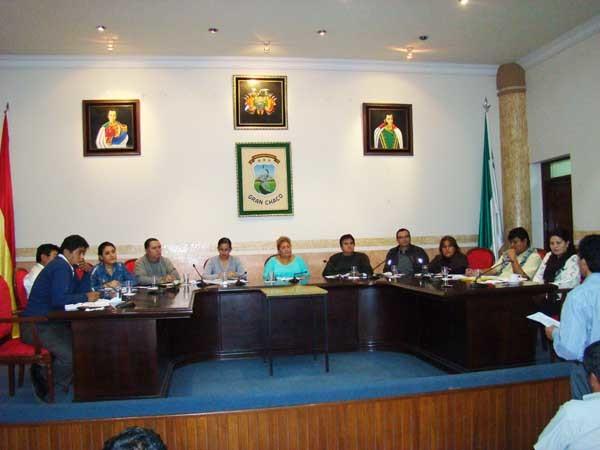 Sesión del Concejo Municipal de Yacuiba. (Foto: El Chaqueño)