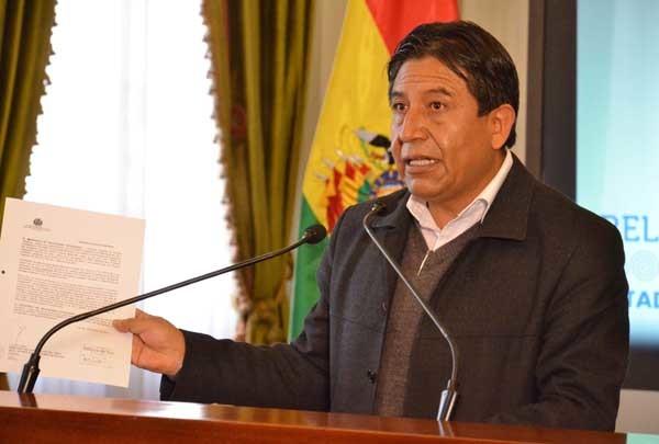 David Choquehuanca, canciller de Bolivia. (Foto: ABI)