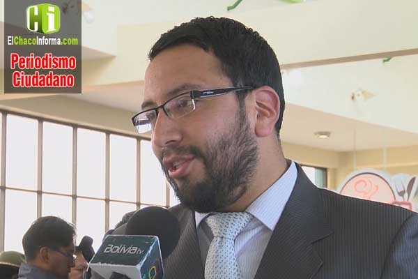 Diego Jiménez, viceministro de Justicia y Derechos Fundamentales. (Foto: Bolivia Tv)