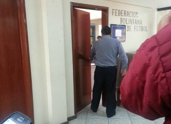 Oficinas de la Federación Boliviana de Fútbol. (Foto: Los Tiempos)