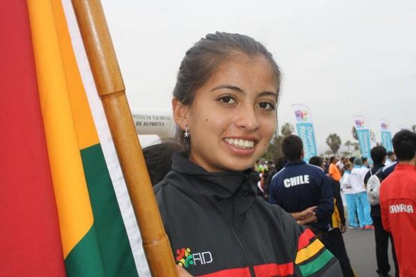 Stefany Coronado, campeona panamericana de marcha, categoría juvenil. (Foto: Late.com.bo)