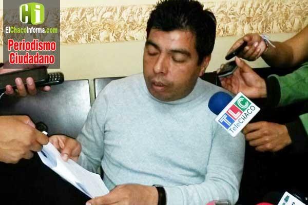 Wilman Cardozo realizará una cruzada departamental por 11% de participación de los ingresos de la planta separadora. (Foto: elchacoinforma.com)
