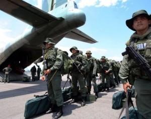 Otros 180 militares llegaron a Táchira. (Foto: AFP)
