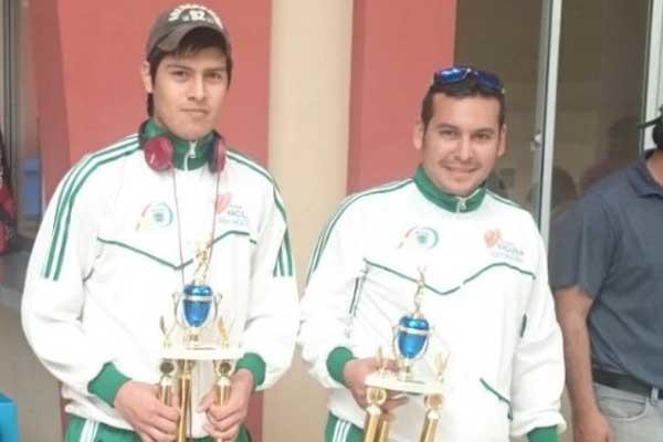 Luis Miranda y Carlos Gonzales, participan del nacional de raquet. (Foto: Armando Vaca)