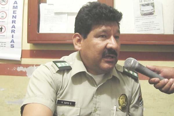 Cnl. Víctor Soto, nuevo responsable del Puesto Policial de Caraparí. (Foto: Agencias)